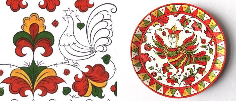 Пермогорская роспись фото