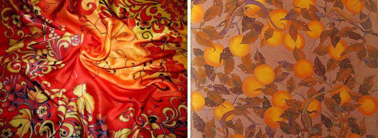 Батик, Роспись по ткани фото